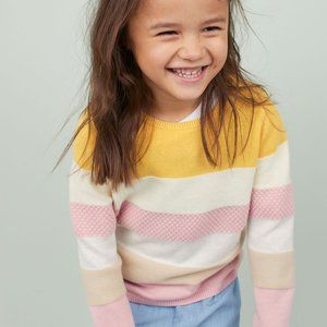 H&M Striped Wool Blend Sweater